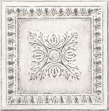 Tin Tin Ornamental Tin Ceiling Look Wallpaper White/Gilver