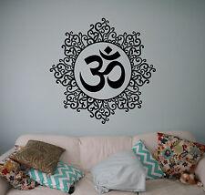 Mandala Yoga Wall Vinyl Decal Hindu India Yoga Vinyl Stickers Home Interior 33