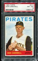 1964 Topps Baseball #417 DON CARDWELL Pittsburgh Pirates PSA 8 NM-MT