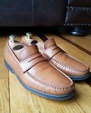 MEPHISTO Mens Cognac Leather Penny Loafer Shoes Caoutchouc Lite Soles Portugal 8