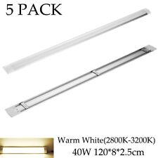 5 Pack 40W 4Ft Led Ceiling Batten Tube Bar Light Warm White Office Shop Fixtures