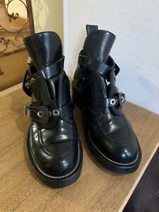 Balenciaga Boots Ceinture Black Leather Strappy Booties 39,5 US 9,5 US 9