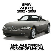 BMW Z4 E85 2002 - 2008. Service Manuale Officina Riparazione Workshop Manual ENG