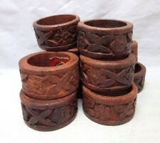 10x Sheesham wood napkin rings made in India