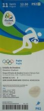 MINT TICKET 11.8.2016 Olympics Rio Rugby Square 3 South Africa - Japan #P92