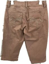 Nine West Vintage America Women's Bermuda Walking Jean Shorts 8/29 Pink Capri