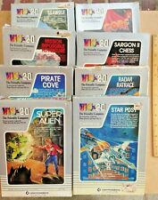 8 VIC 20 Commodore Computer Games - Gorf Seawolf Chess StarPost Pirates Aliens!