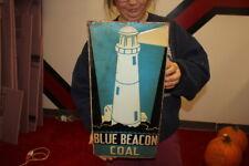 Vintage 1940's Blue Beacon Coal Gas Station Oil 20
