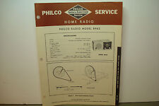 PHILCO RADIO SERVICE MANUAL MODEL B962