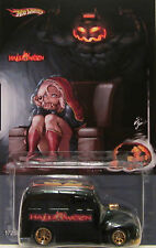 "Hot Wheels CUSTOM SCHOOL BUSTED ""HALLOWEEN"" Real Riders Limited 1/25 Made!"