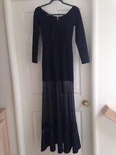 4c74dc0c4 Trending SHEER SKIRT Akira Chicago long evening form-fitting black dress  size S
