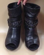 "Guess Women's Ankle Boots Black Size 5.5 with Ribbon 3"" Heel"