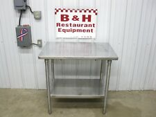 "36"" x 24"" Stainless Steel Heavy Duty Work Table w/ Under Shelf 3' x 2'"
