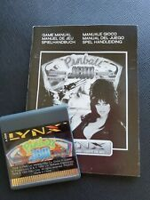 PINBALL JAM Atari Lynx NEW CARTRIDGE AND MANUAL ONLY NO BOX
