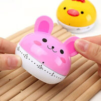 AG_ Cute Cartoon Rabbit/Frog/Rabbit Cooking Kitchen Timer Countdown Mechanical A