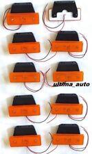10 piezas intermitente lateral 24v 4 LED Naranja Ámbar Luces Para Iveco