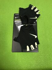 New Nike Essential Lightweight Women's Gym Gloves Black & Yellow Size Large