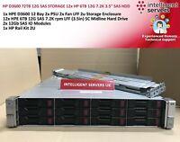 "HP D3600 72TB 12G SAS STORAGE 12x HP 6TB 12G 7.2K 3.5"" SAS HDD"