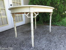 Fretwork Chinese Chippendale Dining Table Faux Bamboo Allegro Thomasville Round