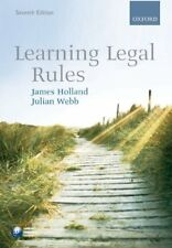 Learning Legal Rules By James Holland, Julian Webb