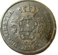 Portugal Azores 20 Reis 1795 Overstrike on 1795 10 Reis See Detail Pics  A46-259