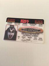 Kiss Gene Simmons Replica Driving License