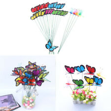 24PCS Butterfly Sticks Home Decor Garden Vase Art Lawn Craft Party Decoration