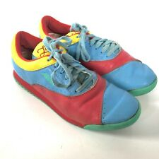 Reebok 80s 90s Womens 7.5 Vintage Blue Pink Yellow Multicolor Lace Up Sneakers