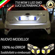 COPPIA LUCI TARGA 5 LED SPECIFICO PER FORD FOCUS II 2 T10 W5W CANBUS  NO ERRORE