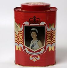 1977 Silver Jubilee Elizabeth II Metal Canister Tin Murchie's Tea and Coffee