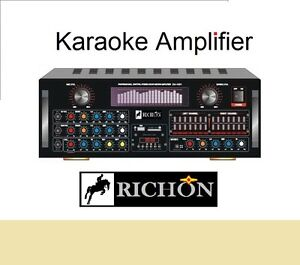 New*Bluetooth Remote USB 3 MIC Input Karaoke Mixing Amplifier 2x120W Powered