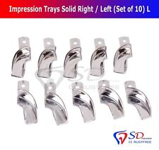 Partial Denture Impression Trays Non-Perforated (Set of 10) Size L Right/Left