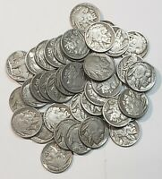 40 Full Dates Buffalo Nickel 5 (Five) Cent Coins Indian Head Bison