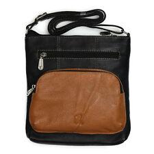 Unifarbene Messenger Taschen aus Leder mit einem Träger