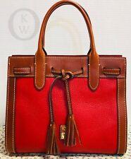 *Dooney & Bourke*RED*Ariel*Satchel*Handbag* 19042R S214
