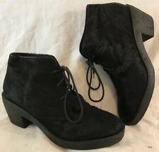 Kurt Geiger Black Ankle Leather Lovely Boots Size 41 (62vv)