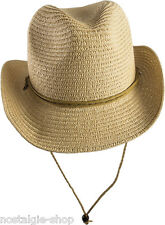 Kinder Cowboy Hut, Lederband Strohhut Tex Mex Western Hat Country Trapper, Cap