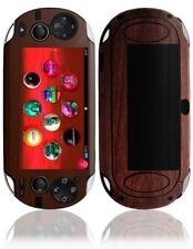 Skinomi Dark Wood Skin+Screen Protector Cover for Sony Playstation Vita WiFi
