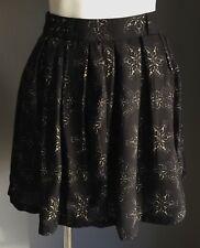 Gorgeous ISKA LONDON Black & Beige Print Full Pleated Short Skirt 6-8