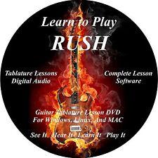 Rush Guitar TABS Lesson CD 181 Songs + Backing Tracks + Huge Bonus!