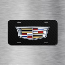 Cadillac Vehicle License Plate Front Auto Tag CTS ESCALADE XTS SRX CARBON FIBER