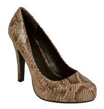 TERRA Delicious Women's Snake Print High Heel Slip On Dress Pumps