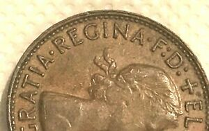 1960 PENNY ERROR OVER LAP ON FRONT NO INSIDE BEADS NO 3