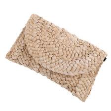Bohemia Handmade Rattan Woven Handbag Straw Purse Messenger Bag Summer Beach