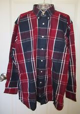 Daniel Cremieux Red White Blue Plaid Signature Twill Button Up Shirt XL NWT