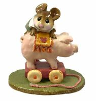 Wee Forest Folk Miniature Figurine High on the Hog M 186 1992 Collectible