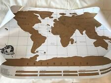 Scratch Off World Map Global Traveler Globe Travel Tracking Poster New Unused