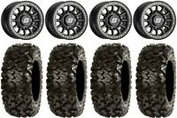 "Sedona Sano Bdlk 14"" Wheels Bk +30mm 30"" Rip Saw Tires Can-Am Maverick X3"