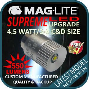 MAGLITE UPGRADE LED 2-6CD CREE 4.5W BULB GLOBE for TORCH FLASHLIGHT 1.5-9V 550LM