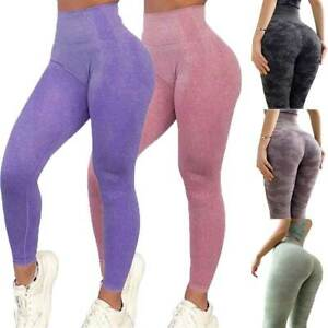 Women Gym Seamless Fitness Leggings High Waist Push Up Training Sport Yoga Pants